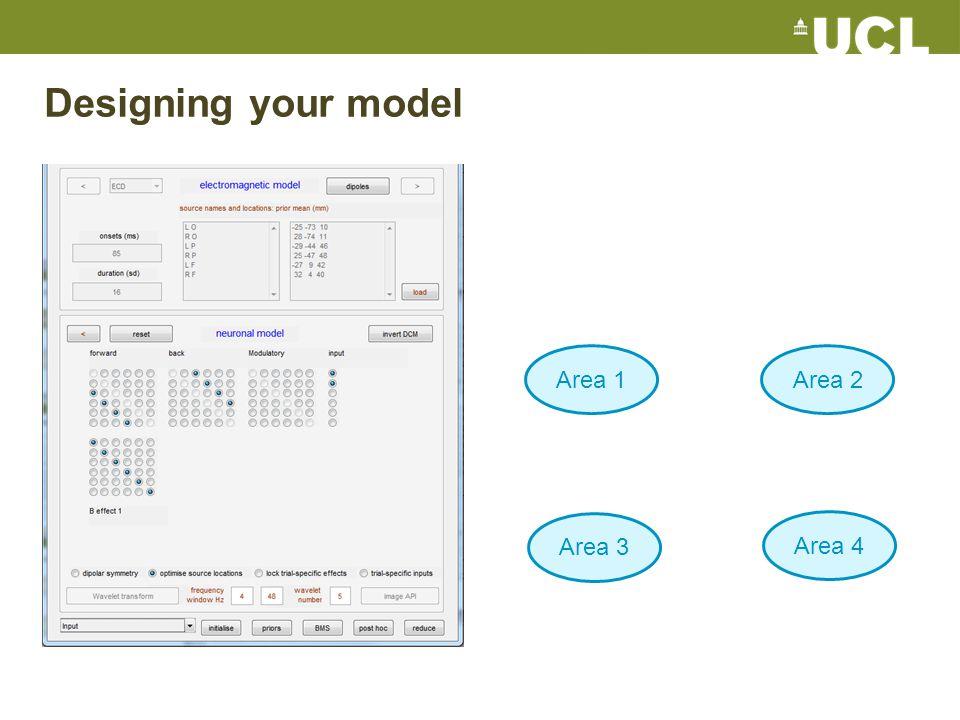Designing your model Area 1Area 2 Area 3 Area 4