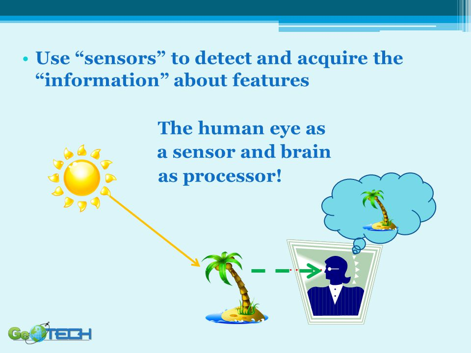 Use sensors to detect and acquire the information about features The human eye as a sensor and brain as processor!