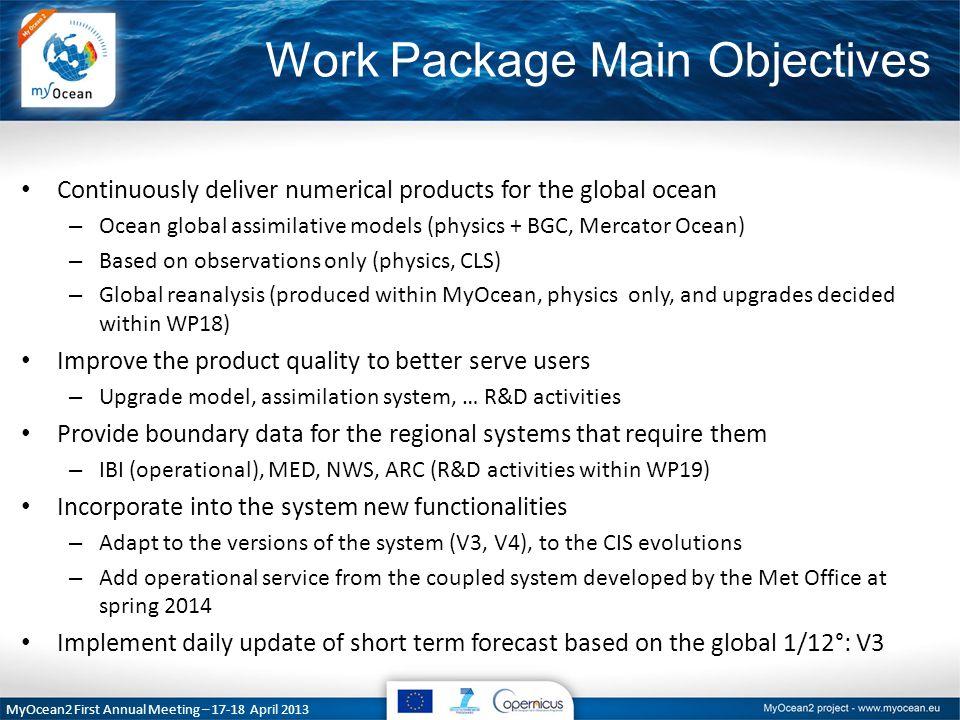 MyOcean Close out / MyOcean 2 Kick Off – 27-29 March 2012 Partnership Met Office PU/DU CLS PU/DU Mercator Océan PU/DU WP 5 Global Ocean MFC Coordination and lead Mercator Océan CLS (Input data, external DU) CNRS (R&D partner) CLS The Met Office