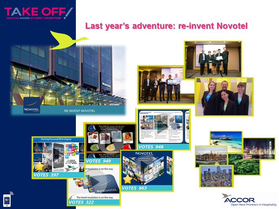 Last year's adventure: re-invent Novotel