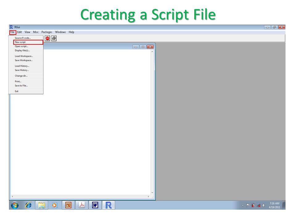 > Creating a Script File