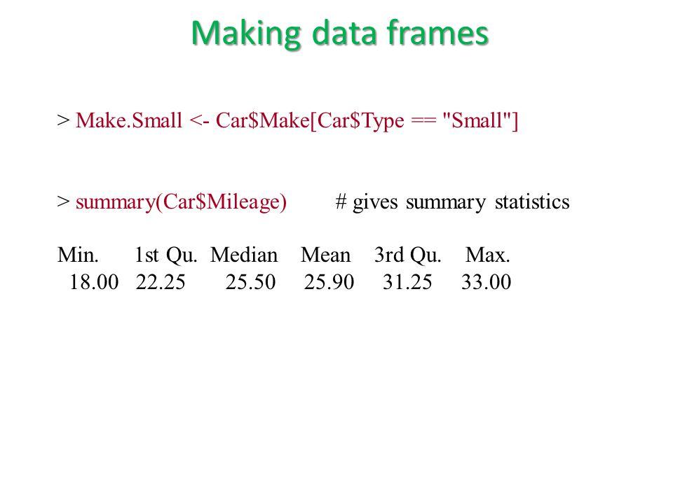 > Make.Small <- Car$Make[Car$Type ==