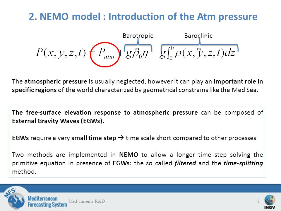 The system with atm.pressure and time splitting (V4) is better than the previous version (V3) 2.