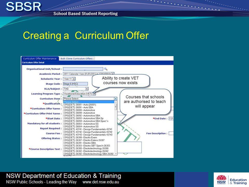 Creating a Curriculum Offer