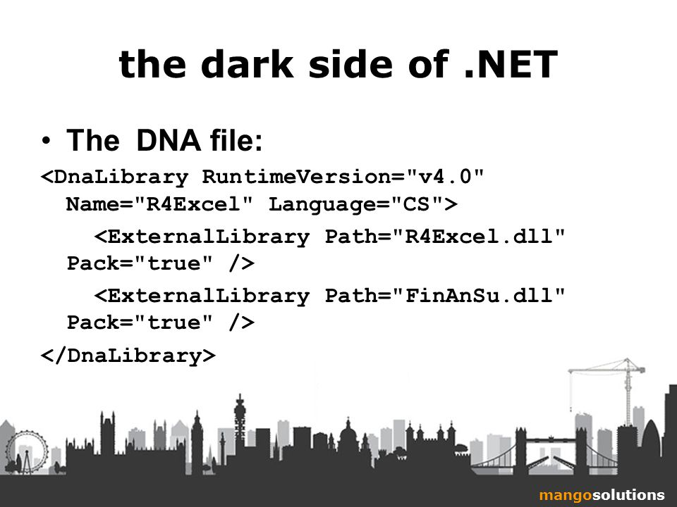 mangosolutions the dark side of.NET The DNA file: