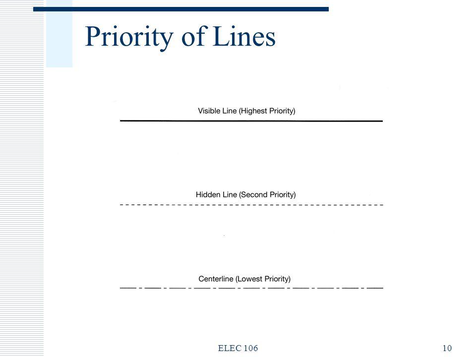 Priority of Lines ELEC 10610