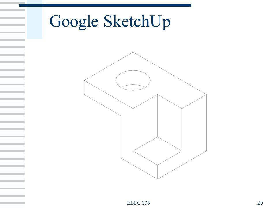 Google SketchUp ELEC 10620
