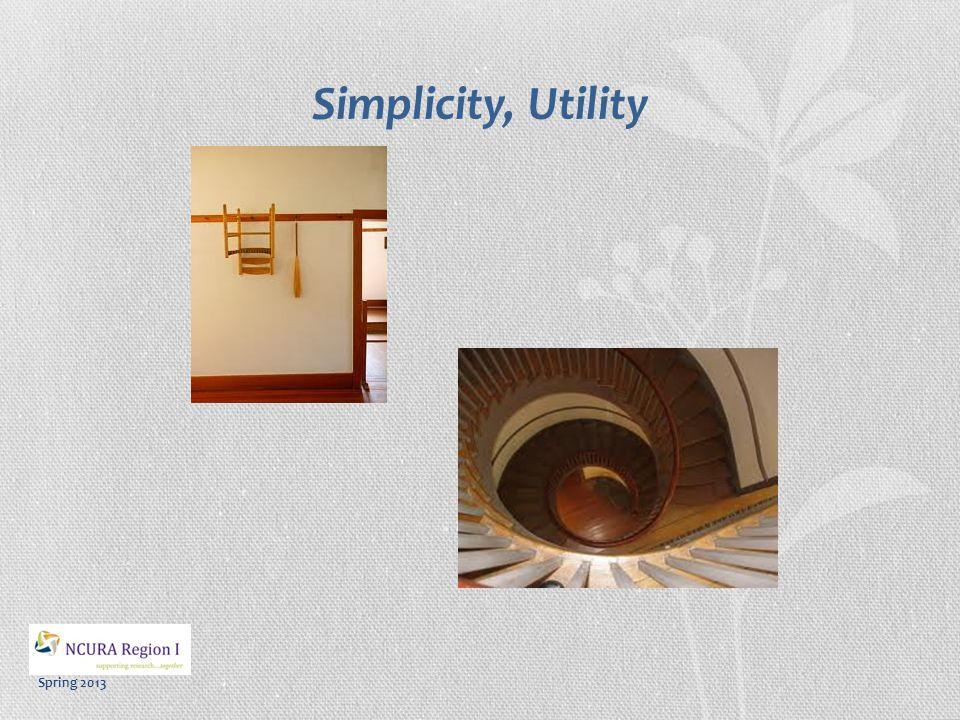 Spring 2013 Simplicity, Utility