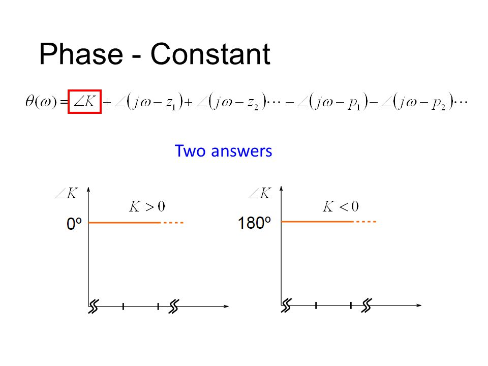Phase - Constant Two answers
