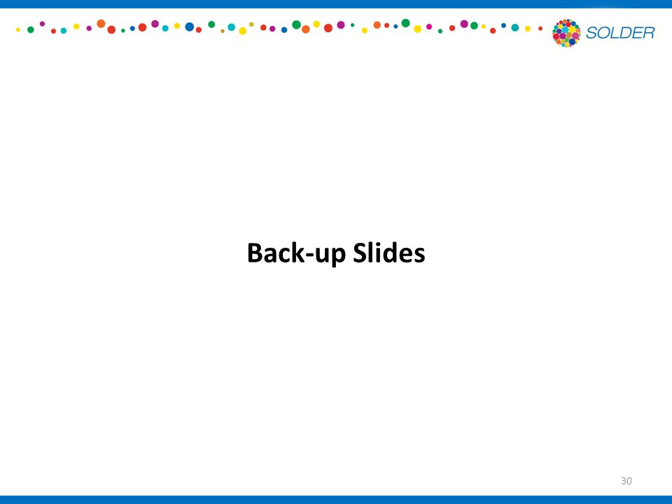 Back-up Slides 30
