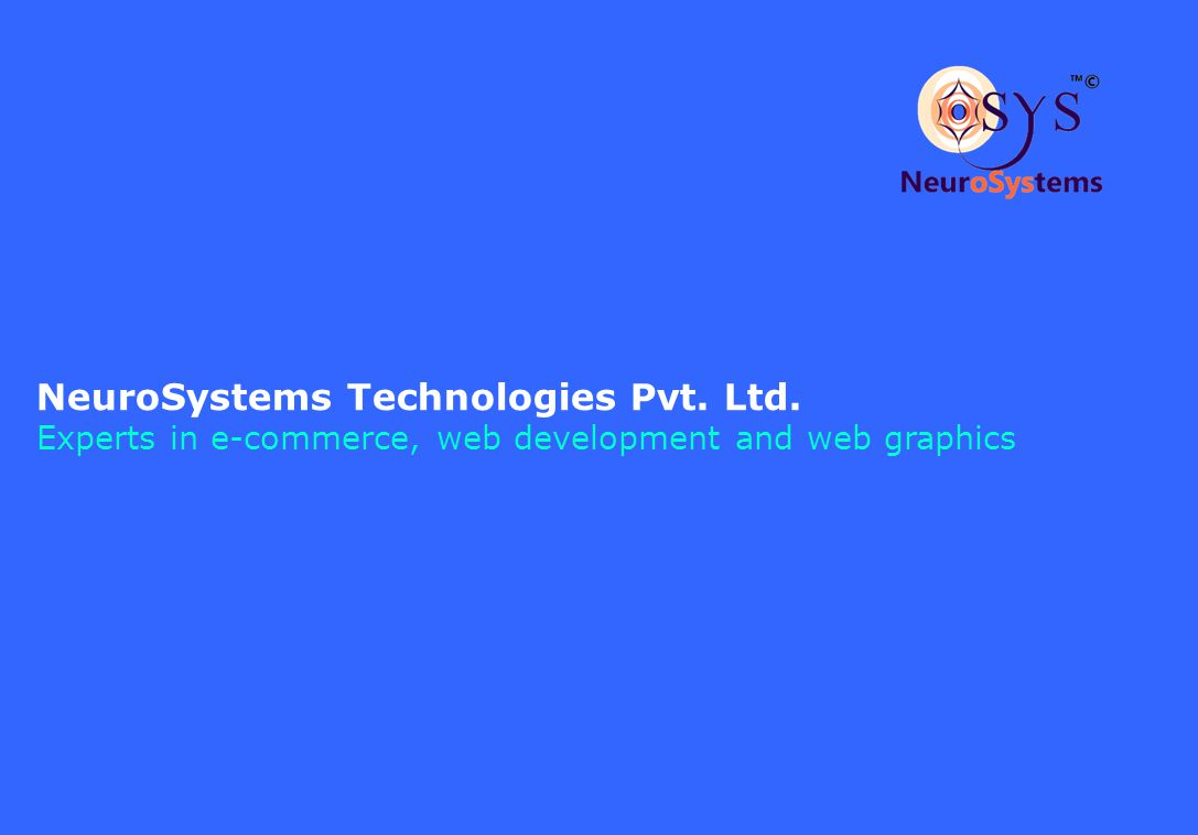 NeuroSystems Technologies Pvt. Ltd. Experts in e-commerce, web development and web graphics