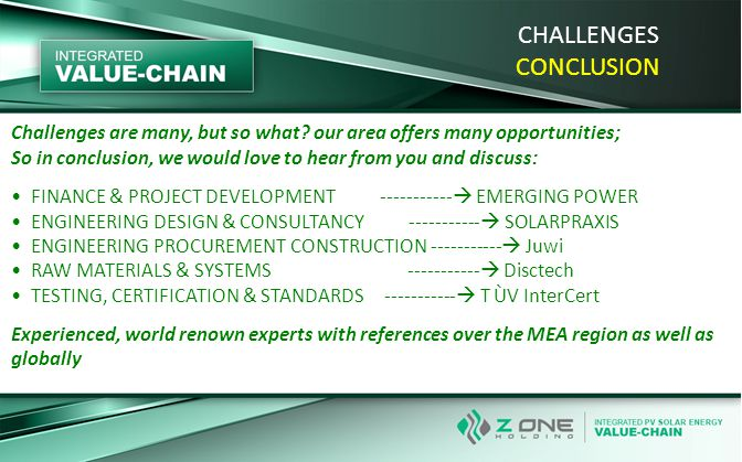Challenges are many, but so what? our area offers many opportunities; So in conclusion, we would love to hear from you and discuss: FINANCE & PROJECT