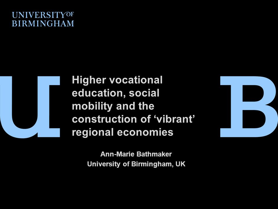Vocational education and social mobility Public policy has for decades focused on university education, not the 'other 50 per cent' who go on to take vocational education or work, and who face lower funding and greater complexity in their choices.