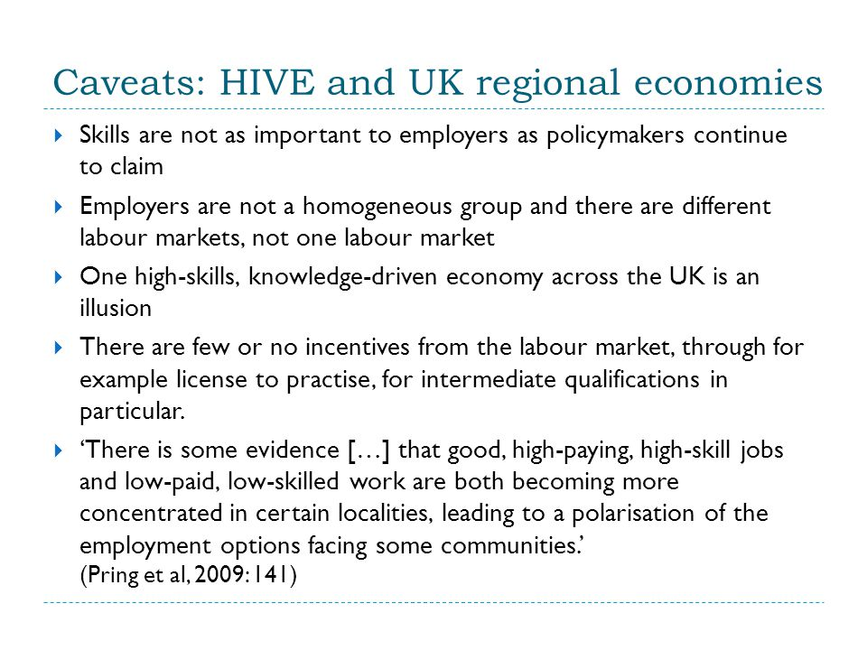 Key issues for future HIVE  What does 'higher vocational education' need to look like in a context of increasing vertical stratification of the HE field.