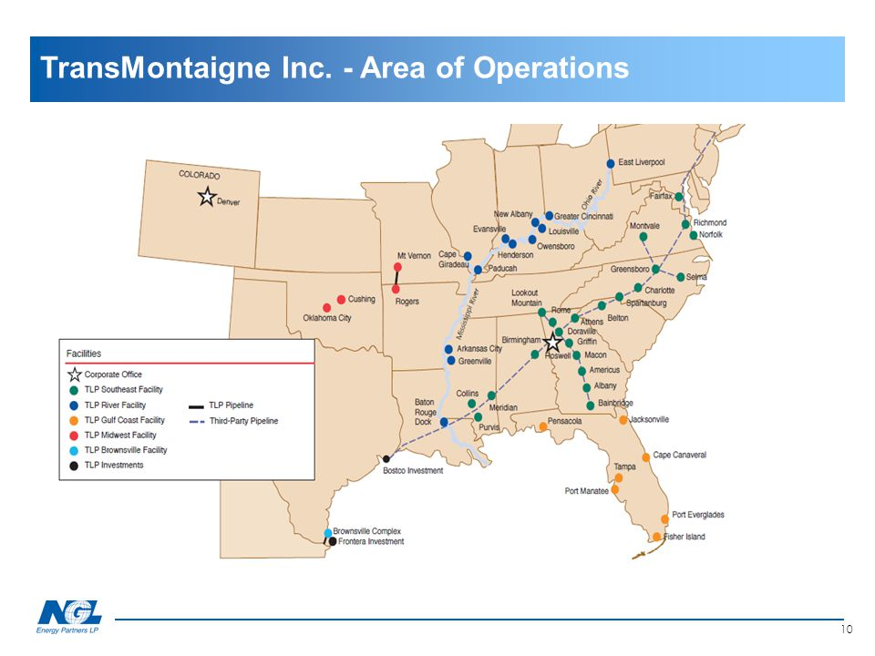 10 Section II TransMontaigne Inc. - Area of Operations
