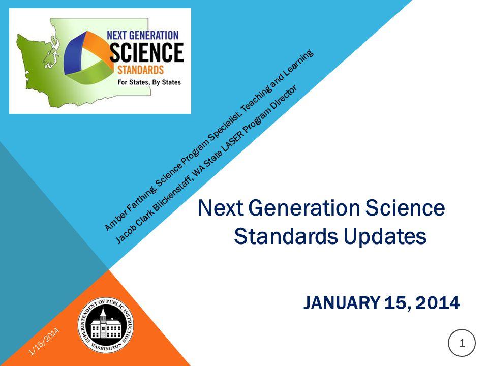 WASHINGTON NEXT STEPS JANUARY 2014 1/15/2014 2