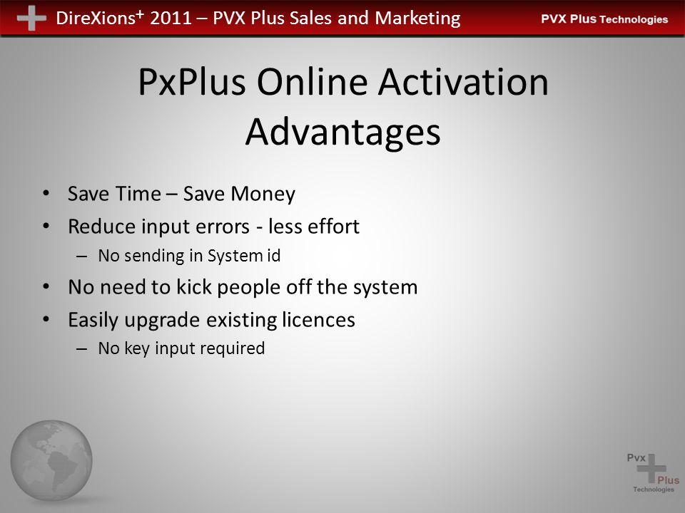 DireXions + 2011 – PVX Plus Sales and Marketing PxPlus Online Activation PxPlus Future Single Product Key