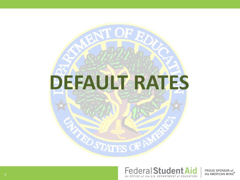 DEFAULT RATES 2