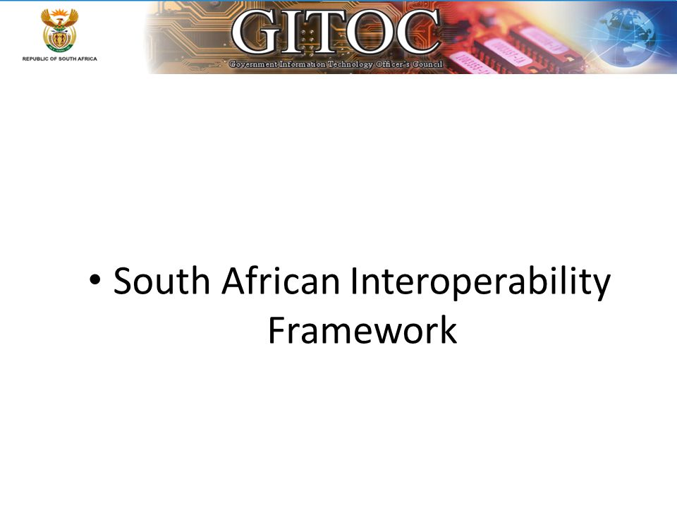 South African Interoperability Framework