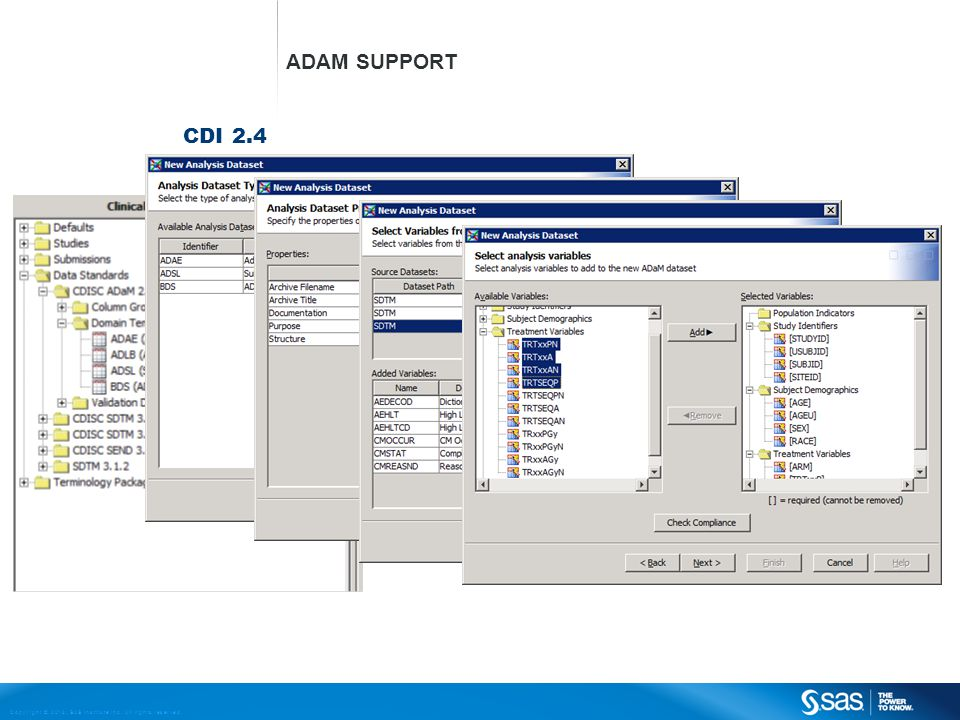 Copyright © 2013, SAS Institute Inc. All rights reserved. CDI 2.4 ADAM SUPPORT