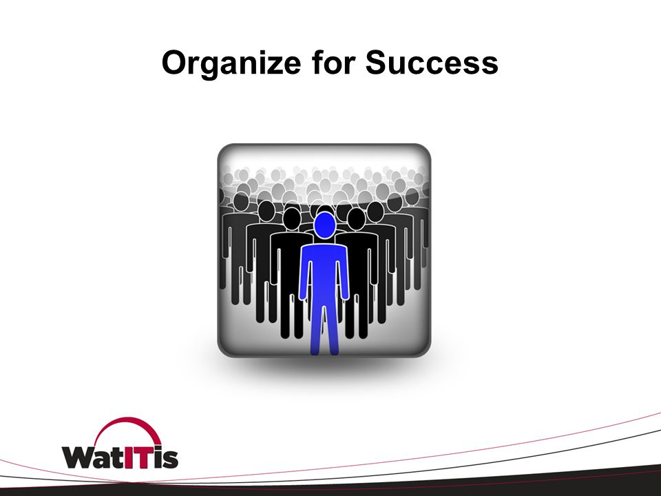 Organize for Success