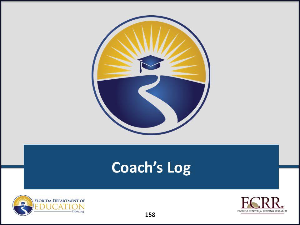 Coach's Log 158