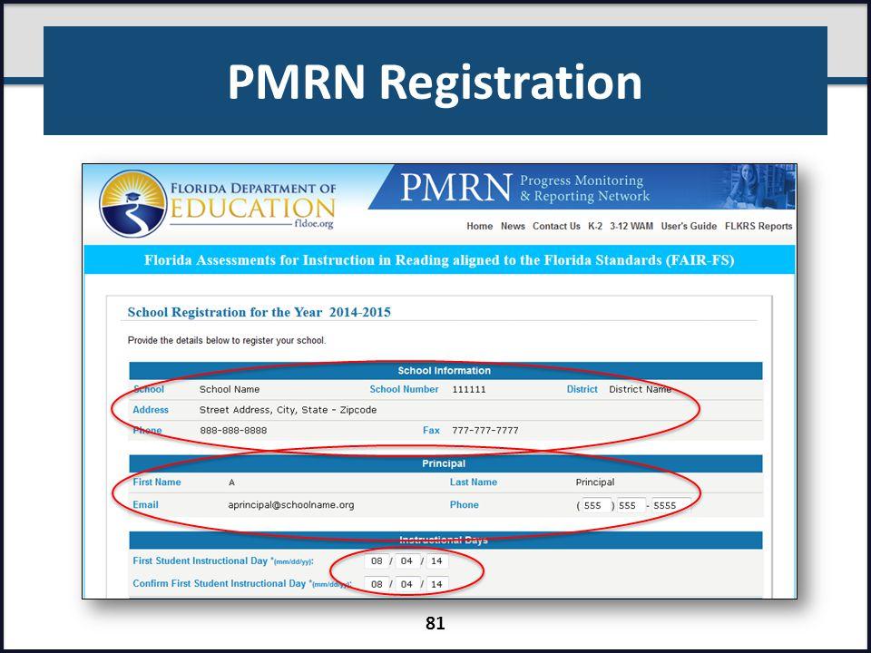 PMRN Registration 81