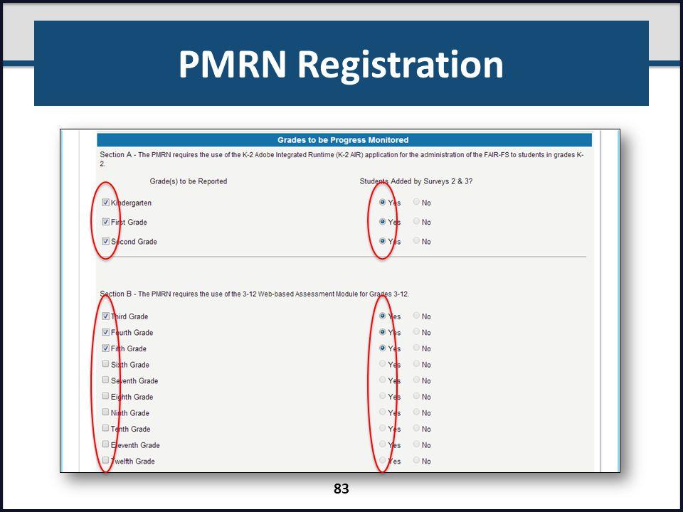 PMRN Registration 83