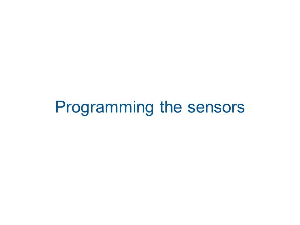 Programming the sensors