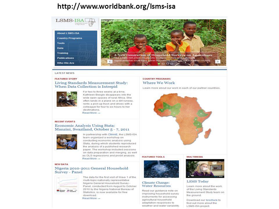 http://www.worldbank.org/lsms-isa