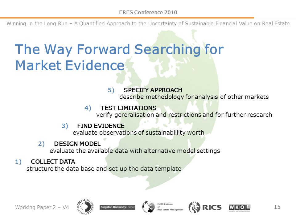 Working Paper 2 – V4 15 ERES Conference 2010 Winning in the Long Run – A Quantified Approach to the Uncertainty of Sustainable Financial Value on Real