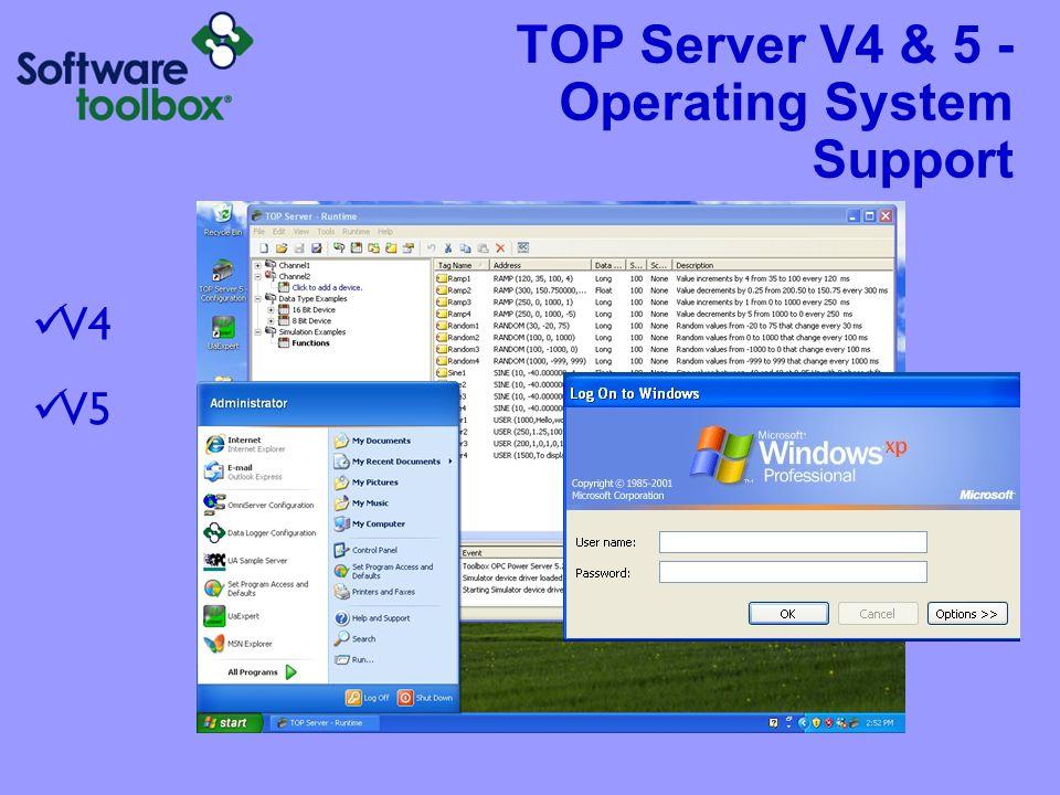 TOP Server V4 & 5 - Operating System Support V4 V5