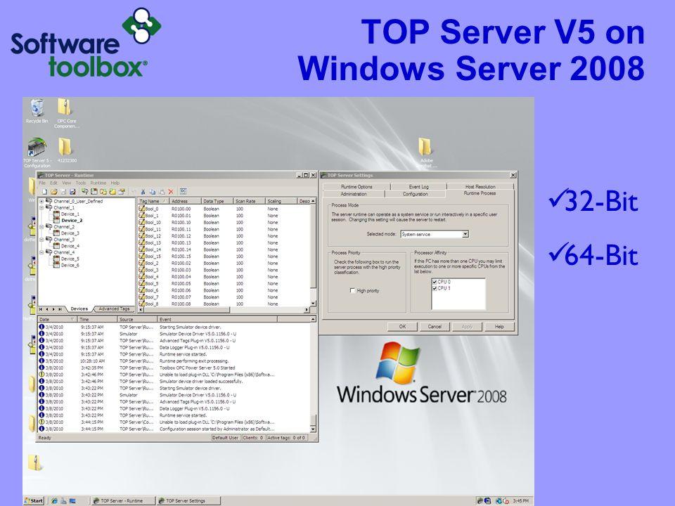 TOP Server V5 on Windows 7 32-Bit 64-Bit