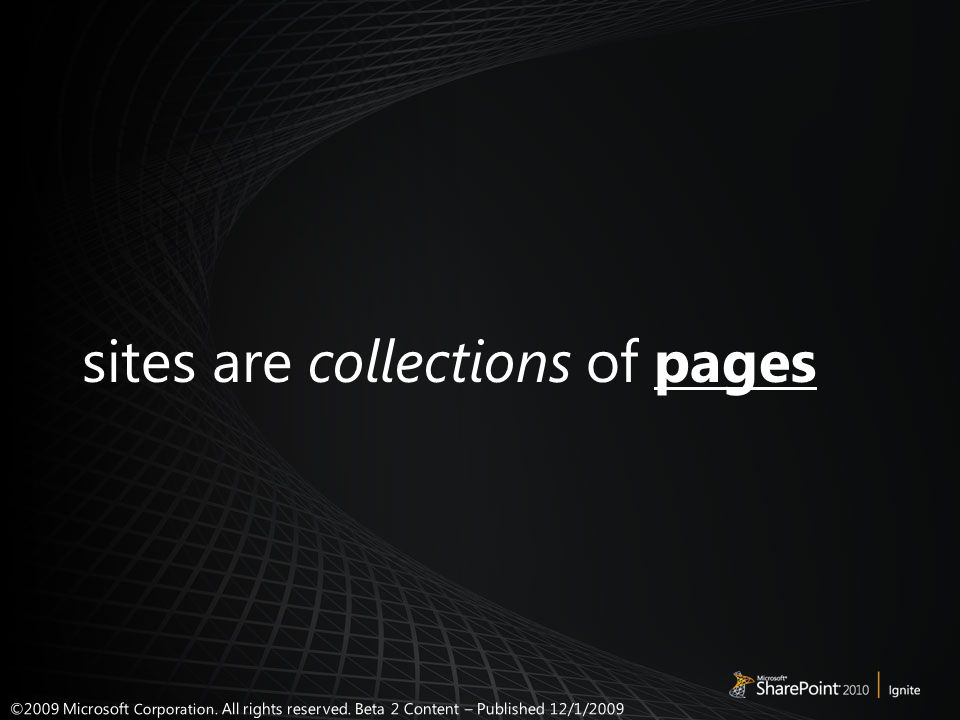 sites are collections of pages