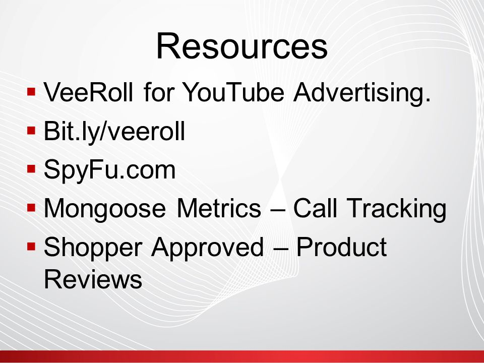 Resources  VeeRoll for YouTube Advertising.