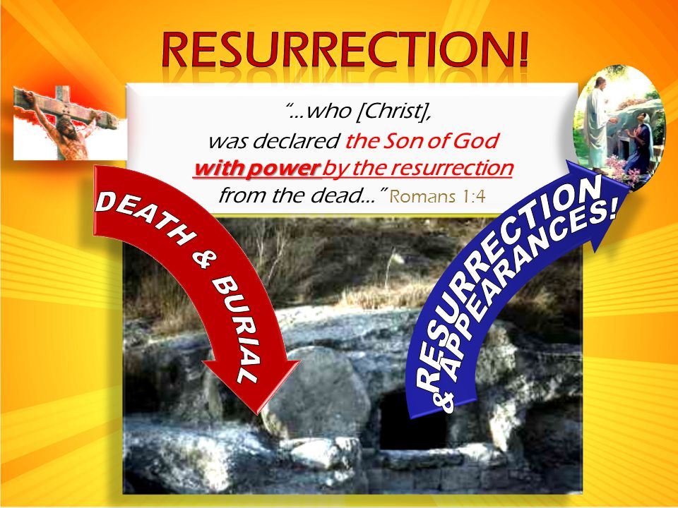 """…who [Christ], was declared the Son of God with power with power by the resurrection from the dead…"" Romans 1:4 ""…who [Christ], was declared the Son"