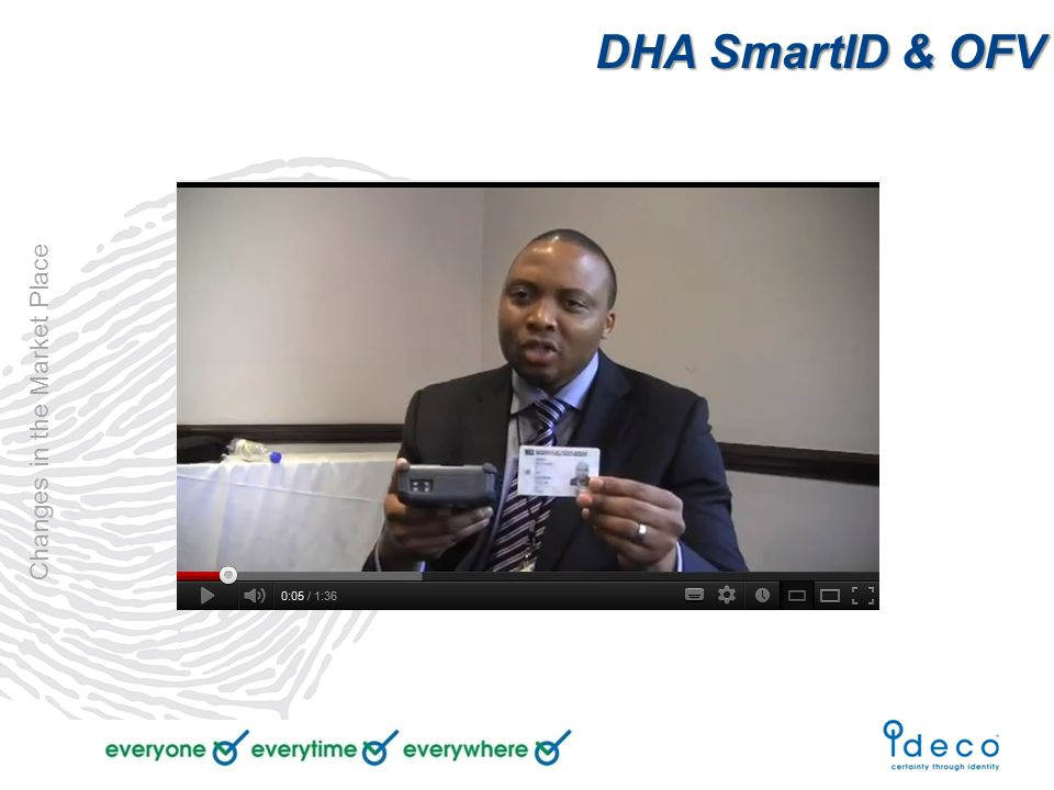 DHA SmartID & OFV Changes in the Market Place