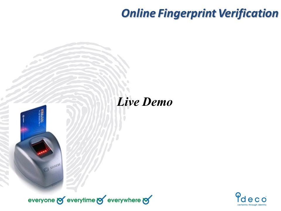 Online Fingerprint Verification Live Demo