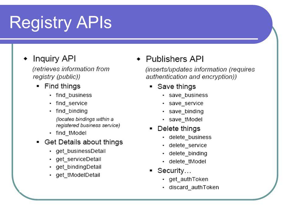 Registry APIs
