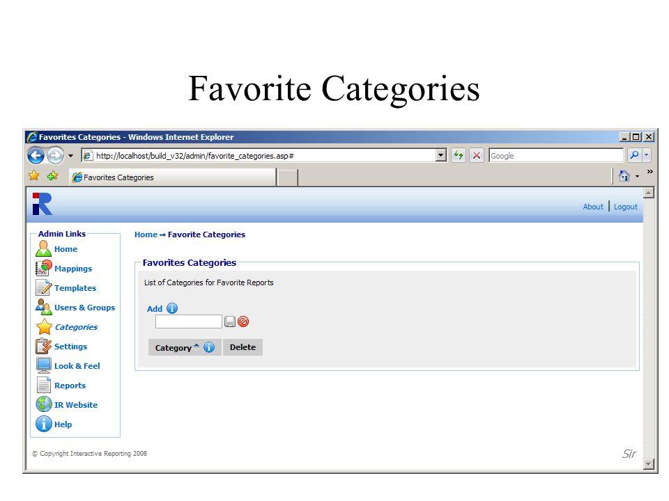 Favorite Categories