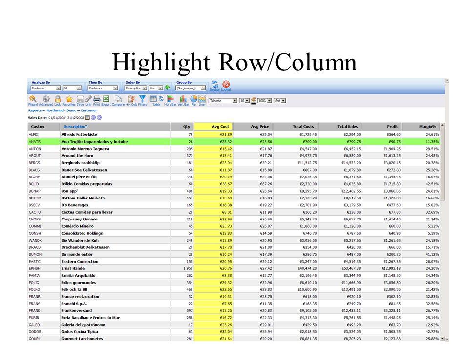 Highlight Row/Column
