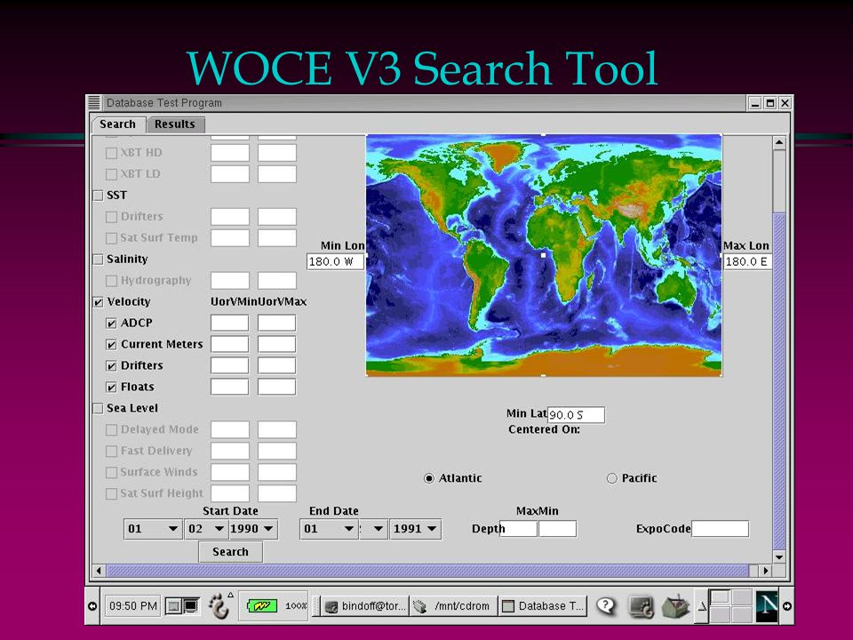WOCE V3 Search Tool