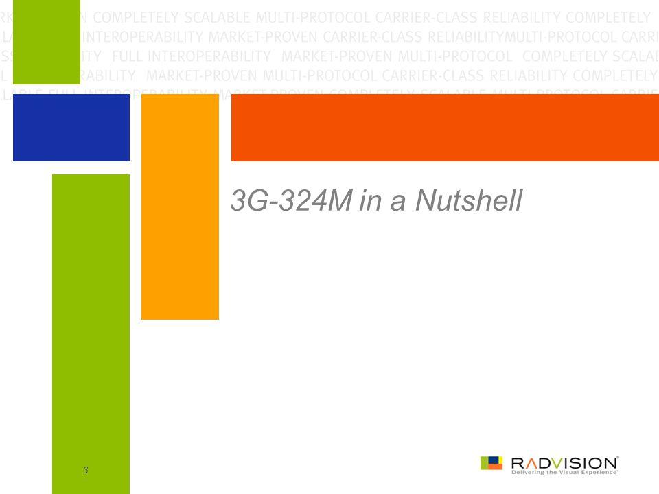 3G-324M over TD-SCDMA for Handsets14 2.