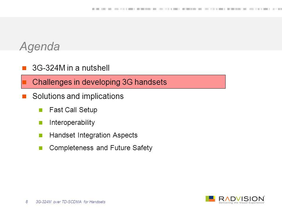 3G-324M over TD-SCDMA for Handsets29 2.