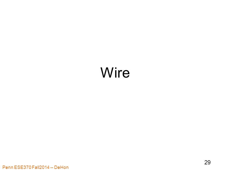 Wire Penn ESE370 Fall2014 -- DeHon 29