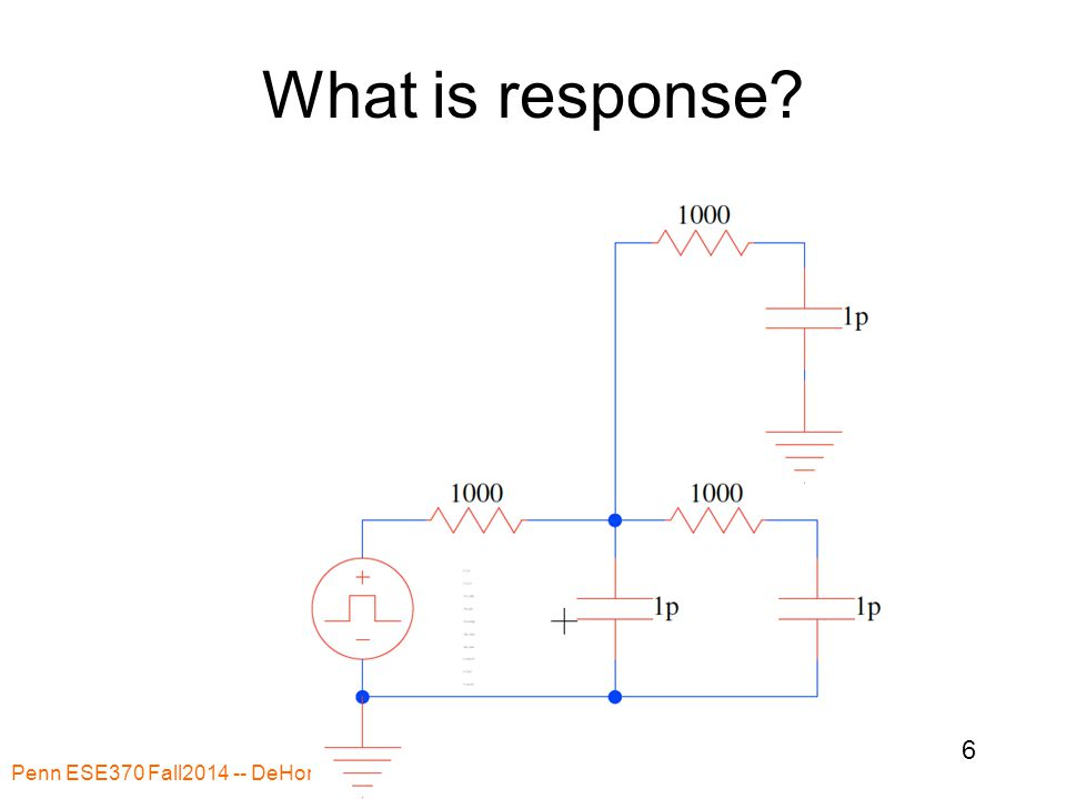 What is response? Penn ESE370 Fall2014 -- DeHon 6