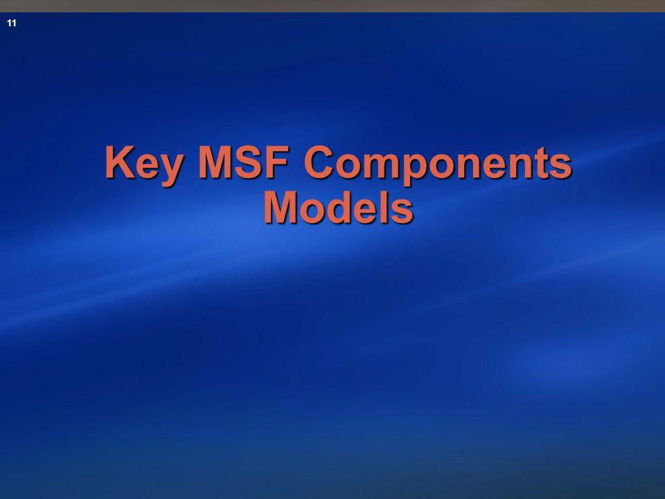 11 Key MSF Components Models