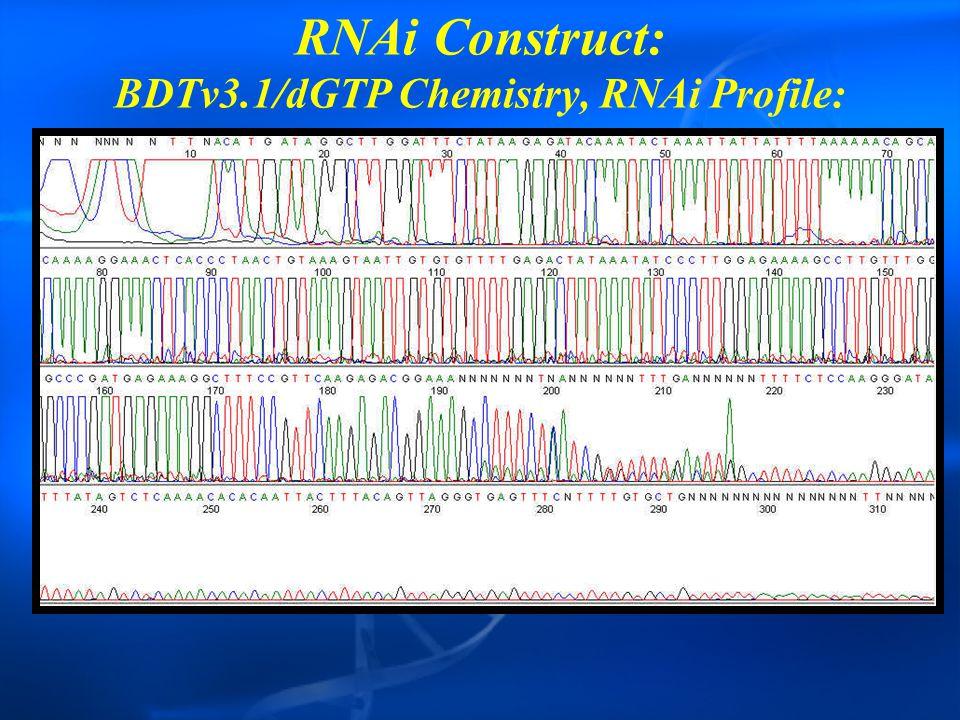 RNAi Construct: BDTv3.1/dGTP Chemistry, RNAi Profile:
