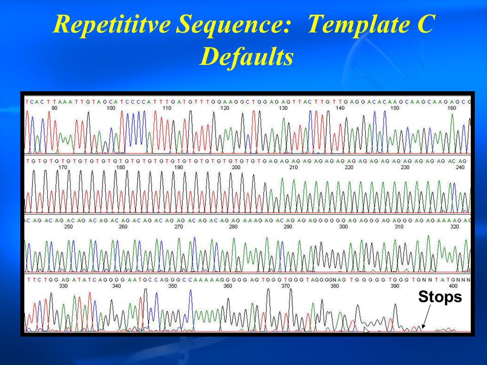 Repetititve Sequence: Template C Defaults Stops