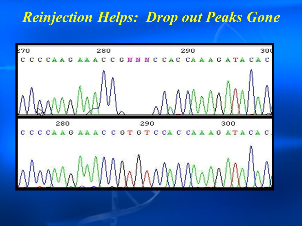 Reinjection Helps: Drop out Peaks Gone